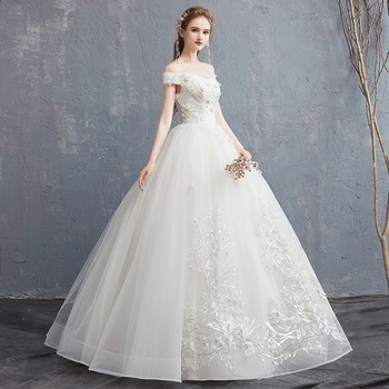 Ladies wedding dress high quality bridal sexy wedding gown