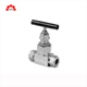 stainless steel foot water bleed variable flow control 15mm isolation needle valve