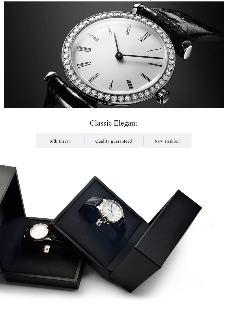 FANXI Custom Luxury White Black Watch Packaging Box With Pillow For Men Bangle Bracelet Jewelry Packing PU Leather Watch Box