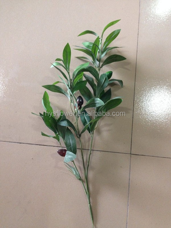 Artificial plant 3 stems silk Olive branch(3 fruits)