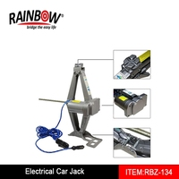 RBZ-134 2T Portable Electric Car Jack 12V Automatic Scissor Lift Hoists Change Tire Change Oil Auto
