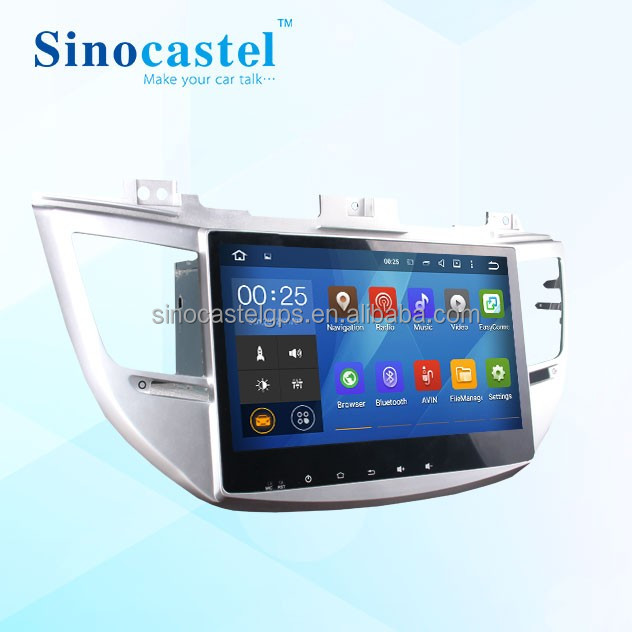 Android 5.1.1 car dvd player for Hyundai Tucson ix 35 2015 with TV BlueTooth WIFI 10.1 inch double din