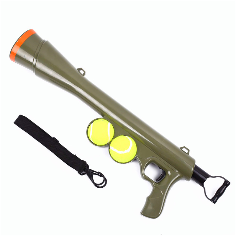 Latest Pet Dog Funny Toy Ball Gun Toy Tennis Ball Launcher Thrower