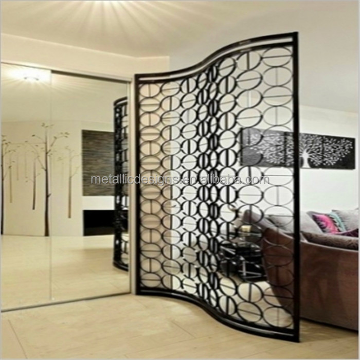 restaurant partitions illuminated room divider metal 3D wall art decor
