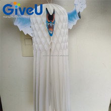 New Product 3D Hanging Honeycomb Ghost for Halloween Party Decoration