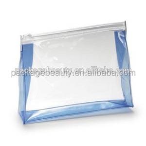 Transparent Soft Plastic PVC Cosmetic Travel Set Packaging Bags With Zipper