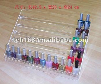 Acrylic Nail Polish Stand With 6 Tiers