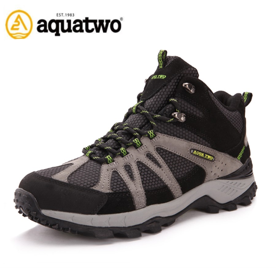 High Quality Aquatwo Brand Waterproof Genuine Leather Men's Hiking Boots For Men Footwear