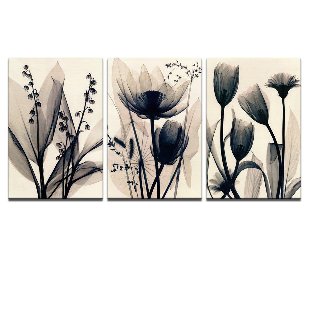 Buy Visual Art Decor Flowers Canvas Wall Art Decor Black And White