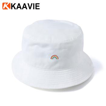 Wholesale Girls Printed Rainbow Plain White Cotton Bucket Hat - Buy ... 20e4bf09841