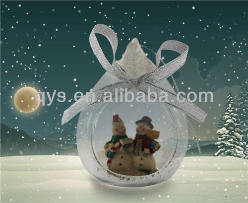 Glass couple snowman ornamnets for Christmas