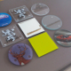 supply and OEM many kinds of tempered glass coaster blank /clear glass coaster and mirrored glass coaster