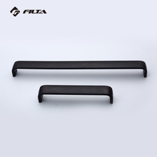 Wholesale matte black Aluminum square bar kitchen cabinet pull handle and knob