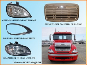 freightliner columbia truck parts head lights, front grille
