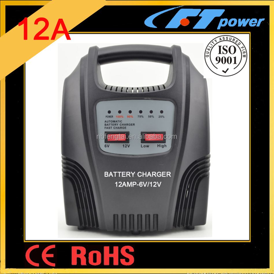 A1212LX 12amp LED fully automatic lead acid 6volt 12volt portable car battery charger