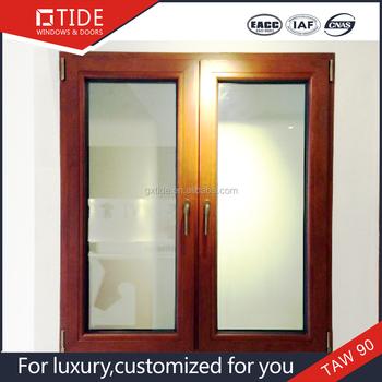 Tan90 Sécurité Fenêtre Moustiquaire En Aluminium Bois Cadre De
