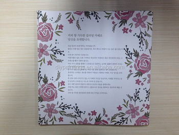 Korean Version Secret Garden Cafe Adult Coloring Book For Wholesale