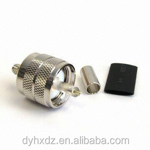 PL259 UHF SO239 male crimp coaxial connector for RG58 cable