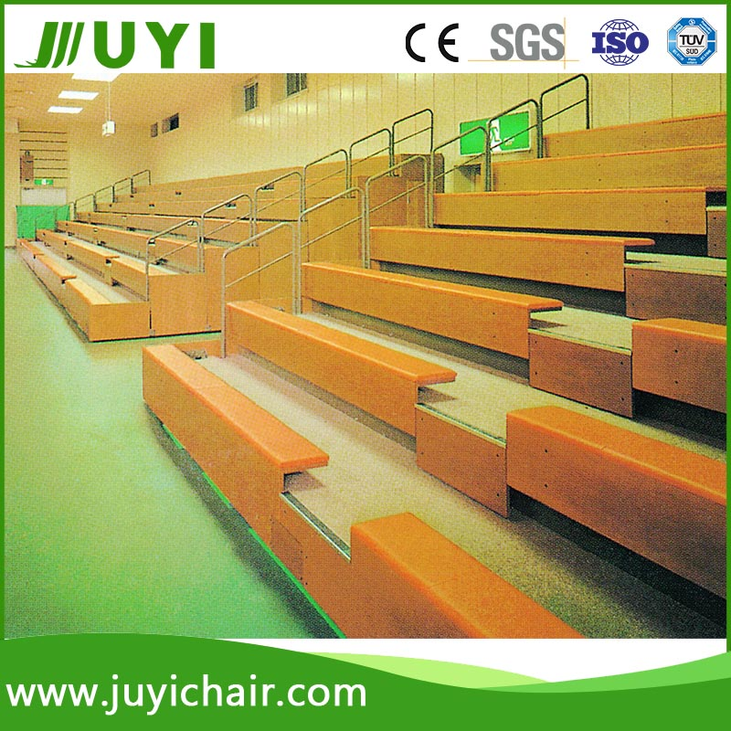 Wooden Retractable grandstand Indoor bleacher bench JY-705