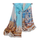 Hot Sales High Quality Multicolor City Pattern Printed Scarf Style Lady Clothing Accessories Chiffon Shawl Scarf