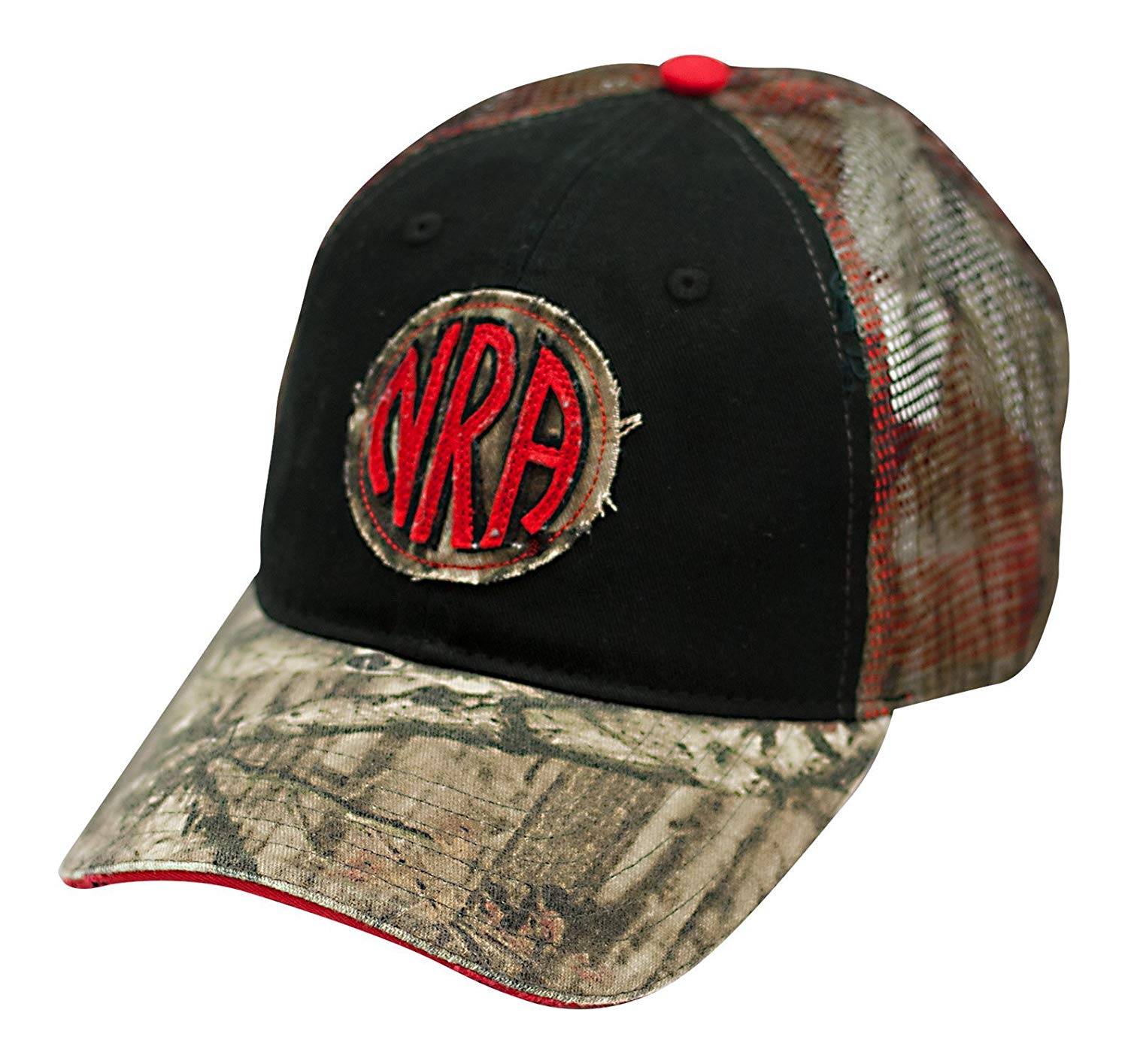 fcfbd97e612 Get Quotations · NRA Distressed Logo Camo Cap - Officially Licensed