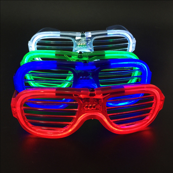 Party favors Neon LED light decorative glasses for creative luminous cool gift toy- 4 different colors