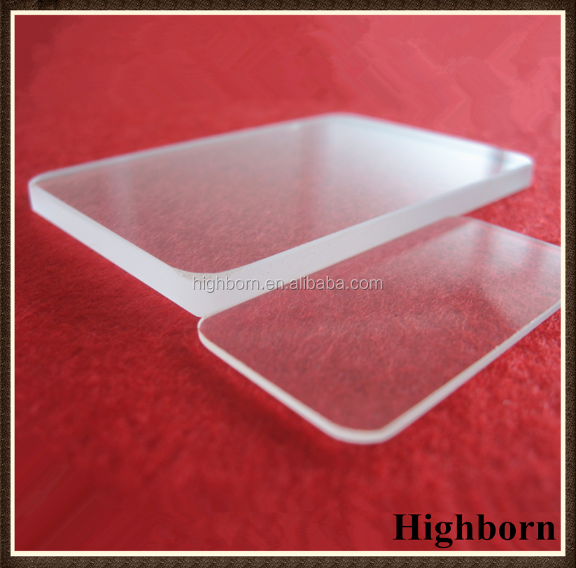 Transparent square borosilicate glass panel