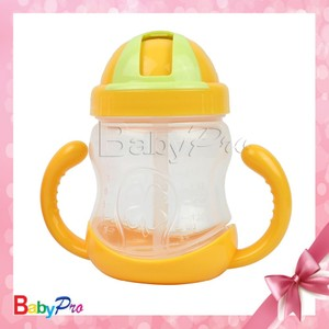 China alibaba supplier good quality baby item colorful baby training cup nipple cup with straw cute baby cup