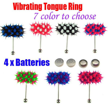 Body Piercing Jewelry Vibrating Tongue Bar Labret