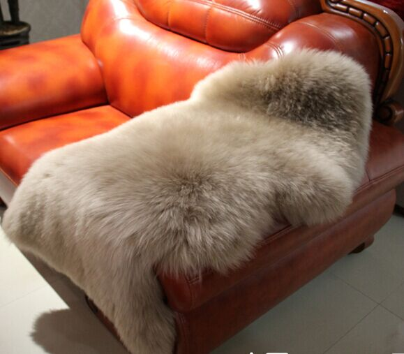 Soft Sheepskin wool Chair Rugs Warm Hairy Carpet Seat Pad Plain Skin Fur Plain Fluffy Area Rugs Washable