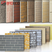 Polyurethane PU foam panel exterior decorative siding faux brick metal wall panel