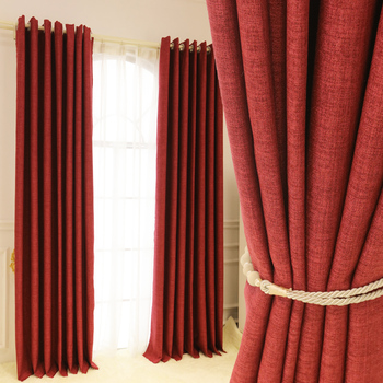 Red Wholesale Polyester Fabric Blackout Office Curtain Typesoffice Window
