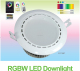 factory supplier dmx rgb dimmable led downlight 12w AC86-265V smart app control led down light