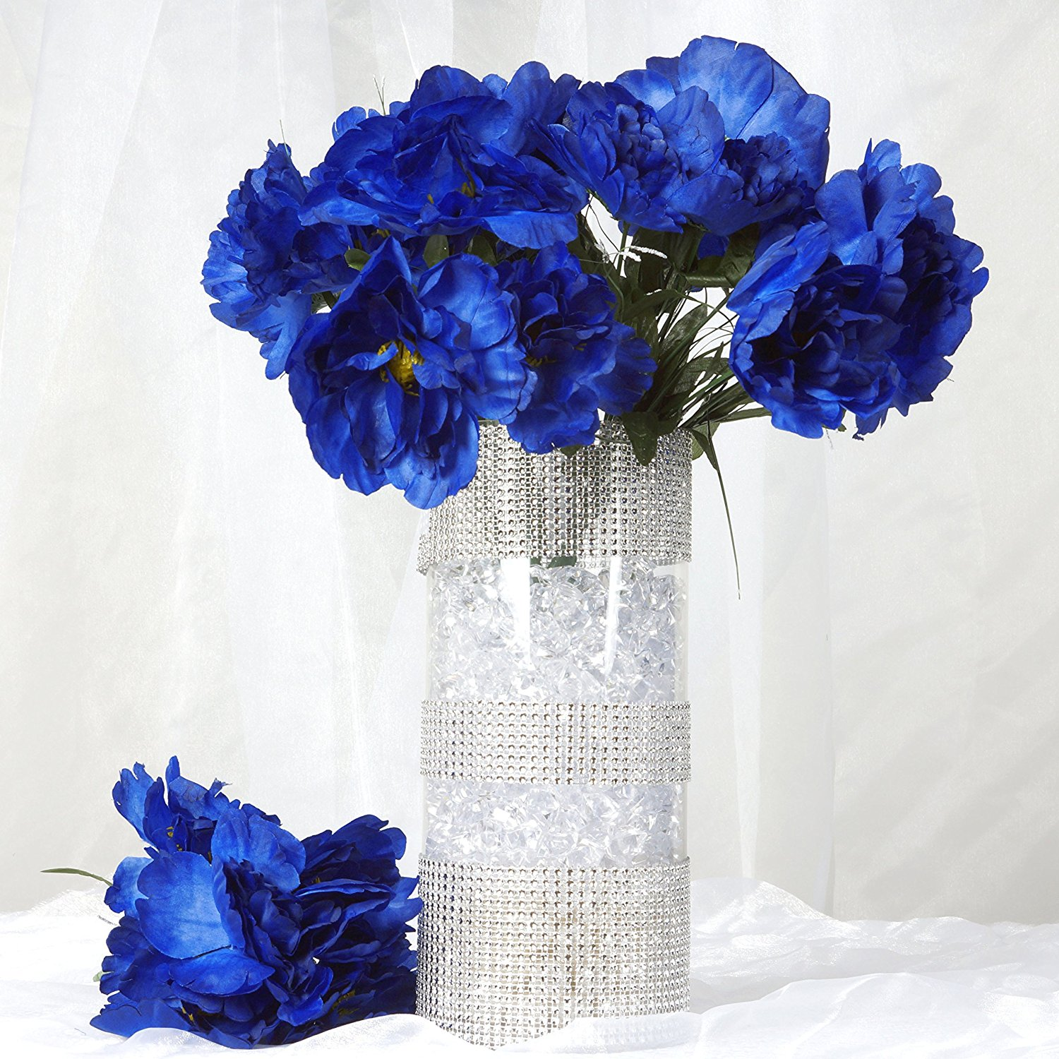 Cheap royal silk flowers find royal silk flowers deals on line at balsacircle 60 pcs silk peony flowers for wedding arrangements 12 bushes royal blue izmirmasajfo