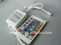24 keys LED controller with IR remote for RGB LED strip or lamp DC 12V 6A