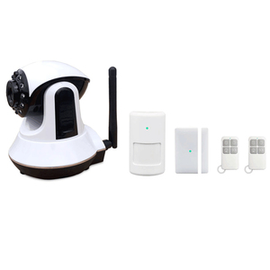 APP remote control WIFI GSM dual network video monitoring home alarm with security camera