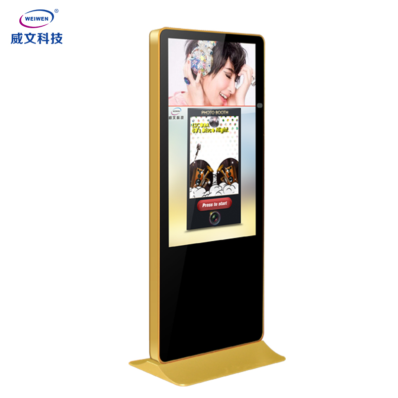 43inch interactive panel portable photo booth touch screen kiosk design