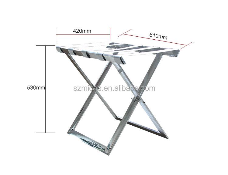 Hotels Stainless Steel Folding Strong Metal Baggage Carrier Luggage Rack Buy Luggage Rack