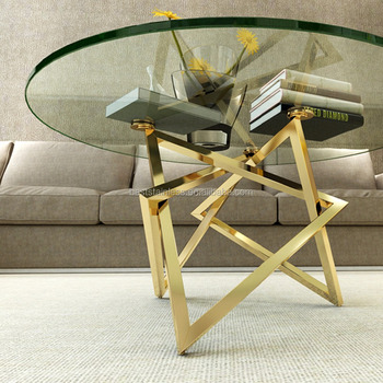 Sanseng Modern Gold Stainless Steel Metal Coffee Table Legs