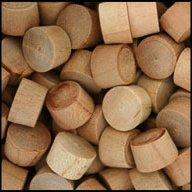 "WIDGETCO 3/8"" Cherry Wood Plugs, End Grain"
