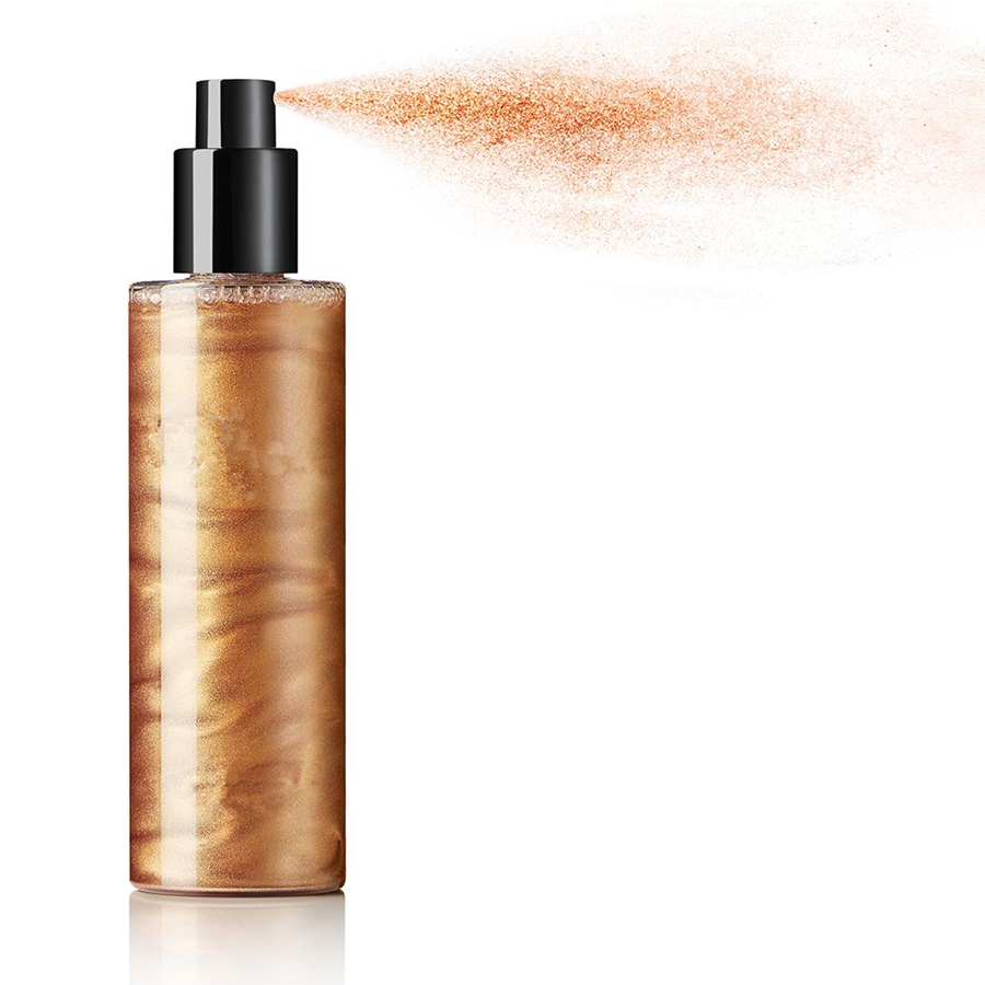 New High Quality Shimmer 3 Colors liquid highlighter 100ml Body and Face Highlighter Spray No Logo
