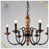 Wholesale traditional vintage metal candle bulb retro chandelier