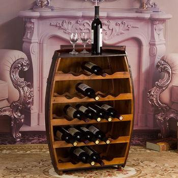 Scotch Whiskey Wine Barrel Cabinet With And Gles Storage
