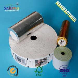 80Mm 80Gsm Adhesive Printer Matt Jumbo Thermal Roll Paper