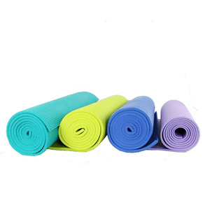 6mm Thickness Eco-Friendly Waterproof Customized Single Color Pvc Yoga gym mat