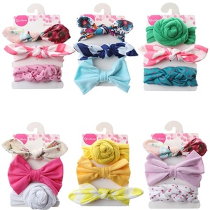 3 pcs/set baby headbands turban knotted girl's hairbands for baby girls gift
