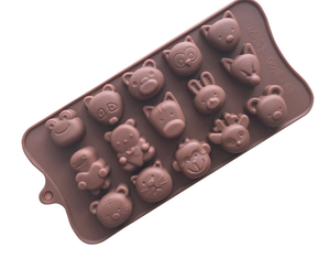 DIY letter candy animal anime silicone chocolate cake ice mold