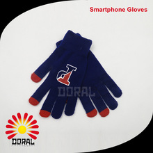 Wholesale Unisex Black Red Color Magic Glove Winter Knit Soft Iphone Touch Screen Gloves Touch Screen Gloves
