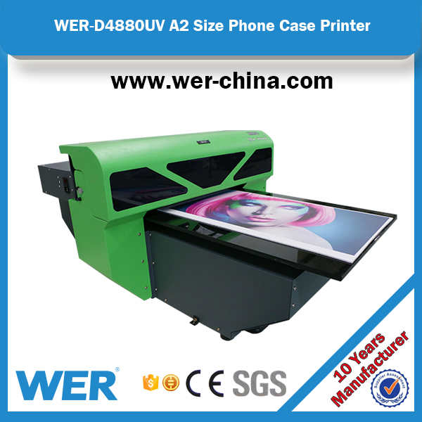 Stable performance A2 420 * 900 mm WER D4880UV uv led flatbed ,printers for glass