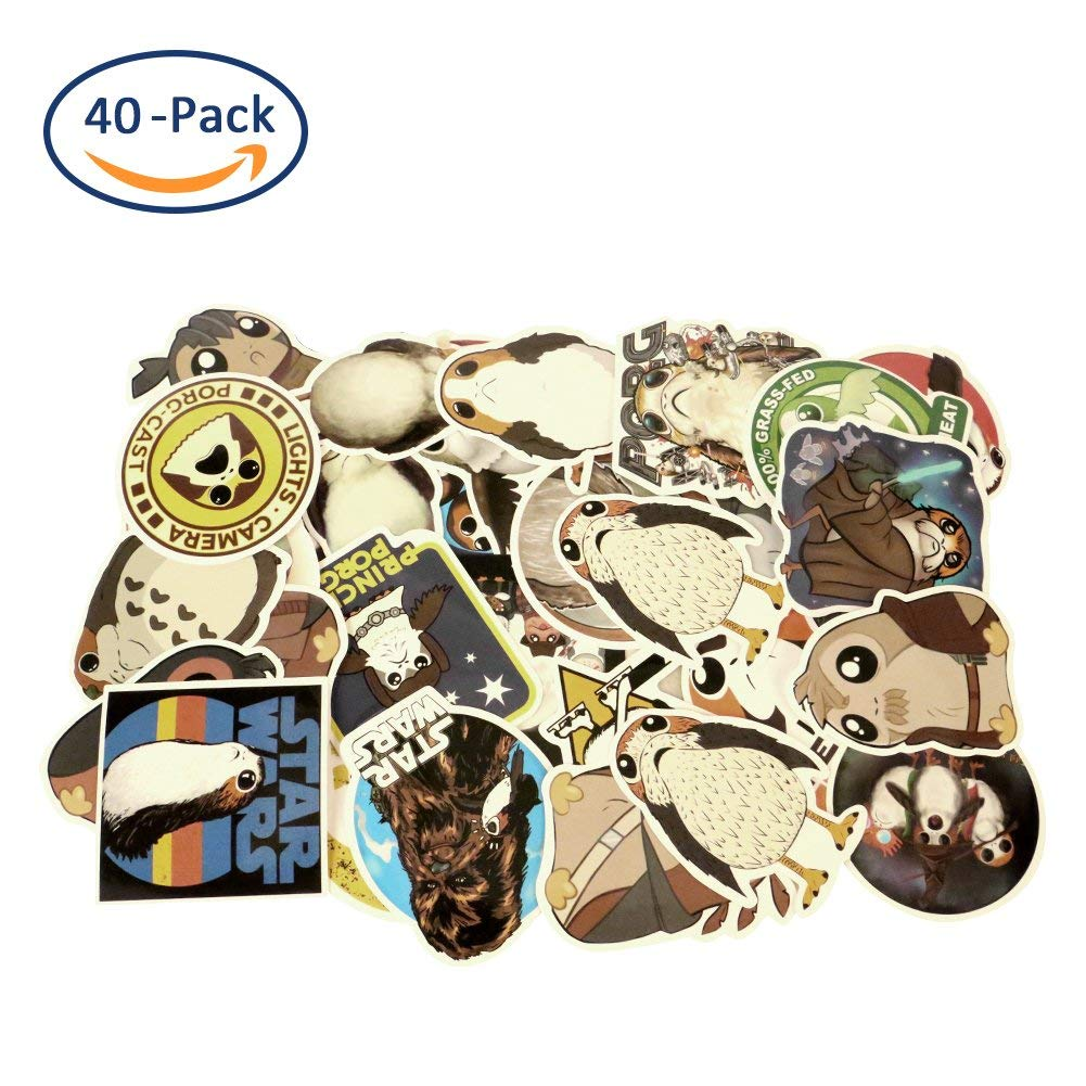 Cartoon Stickers, Sarissa PORG Waterproof Vinyl Stickers Car Sticker Motorcycle Bicycle Luggage Decal Graffiti Patches Skateboard Stickers for Laptop Stickers 40 PCS